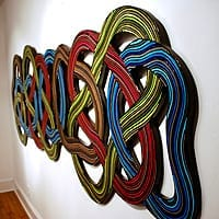 "Knot 15 | Dimensions: 120""WW x 40""H x 2""D 