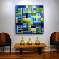 "Matrix 1   Dimensions: 44""W x 44""H x 3""D   Medium: acrylic on wood panel"
