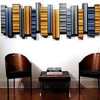 "Matrix 2   Dimensions: 84.5""W x 34""H x 4""D   Medium: acrylic on wood panel"