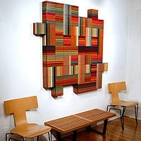"Matrix 3   Dimensions: 60""W x 60""H x 4""D   Medium: acrylic on wood panel"