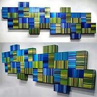"Matrix 4   Dimensions: 108""W x 36""H x 4""D   Medium: acrylic on wood panel"