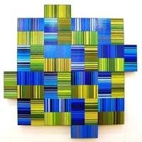 "Matrix 5   Dimensions: 60""W x 60""H x 4""D   Medium: acrylic paint on wood"