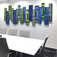 Matrix 8   Dimensions: 10'W x 4'H   Medium: acrylic mediums on wood