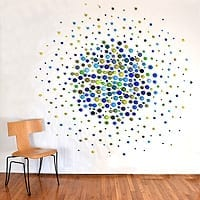 "Cluster Sphere Exploding Circle | Dimensions: 84"" diameter x 2"" deep 