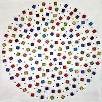 "Cluster Cubed Circle | Dimensions: 72"" diameter x 5/8"" deep 