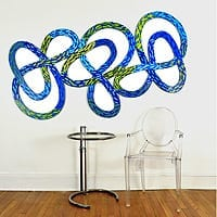 "Dancing Knots 2 | Dimensions: 49"" high x 81"" wide 