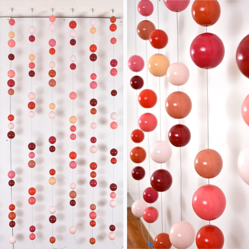 "Cluster Strand | Description: 4'W x 8'H x 3""D 