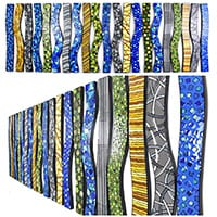 Motif Waves | Dimensions: 44in x 44in x 1in D | >Medium: acrylic on canvas board with hi gloss resin