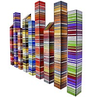 Plateau Skyline | Dimensions: 60in W x 40in H x 4in D | Medium: acrylic and resin on wood