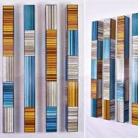 Plateau Staccato | Dimensions: 48in H x 4in W x 4in D | Medium: acrylic and resin on wood